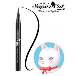 Areeya Super Cat Waterproof Eyeliner #Wild Black