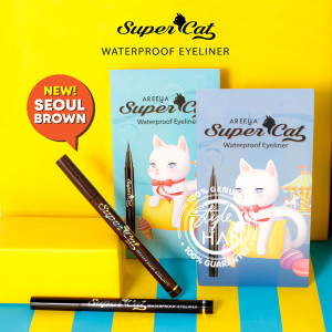 Areeya Super Cat Waterproof Eyeliner #Seoul Brown
