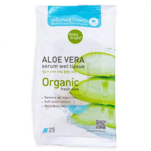Baby Bright Aloe Vera Serum Wet Tissue (25 Sheets)