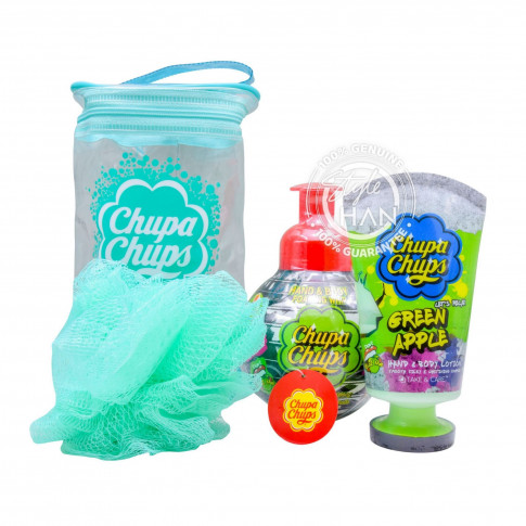 Chupa Chups Set Shower + Lotion (Green Apple)