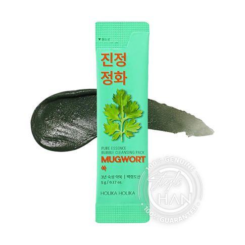 Holika Holika Pure Essence Bubble Cleansing Pack Mugwort
