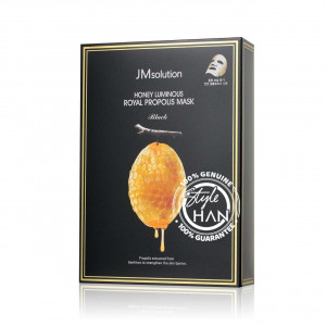 JM Solution Honey Luminous Royal Propolis Mask Black (Box)