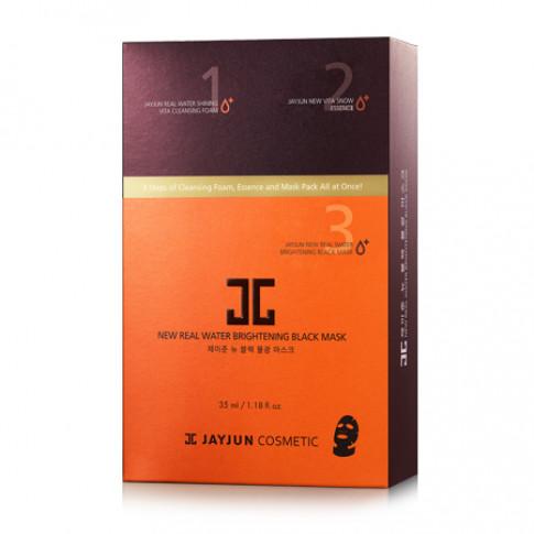 Jayjun New Real Water Brightening Black Mask (Box)
