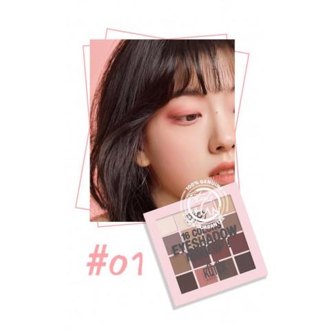KQTQK Macaron 16 Colors Eyeshadow Palette