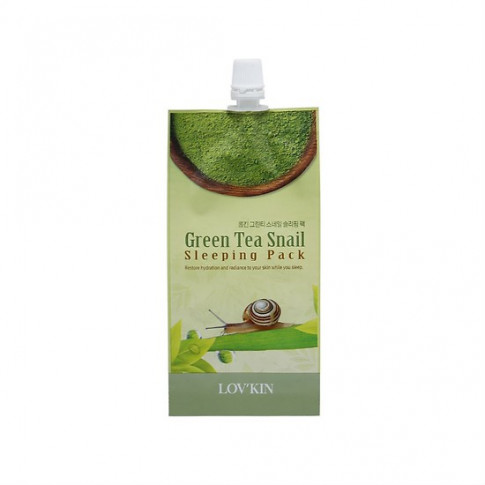 Lov'kin Green Tea Snail Sleeping Pack