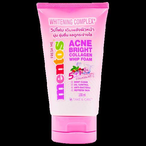 Mentos Fresh Men Acne Bright Collagen Whip Foam 100ml