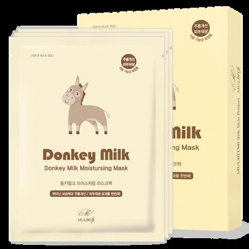 Mulbit Donkey Milk Moistursing Mask Pack