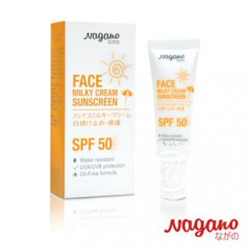Nagano Face Milky Cream Sunscreen with SPF50