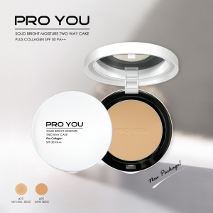 PRO YOU Solid Bright Moisture Two Way Cake Plus Collagen SPF30 PA++