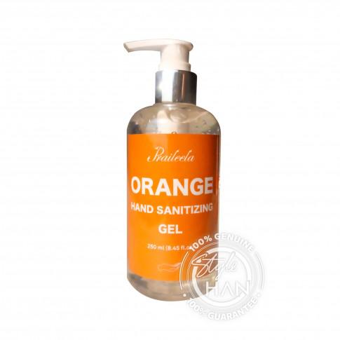 Praileela Orange Hand Sanitizing Gel 250 ml