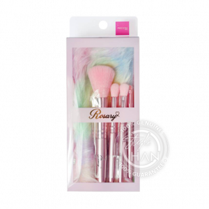 Preciosa Rosary Wonder-Pink Mlni Brush Set 5 Pcs&Bag P210
