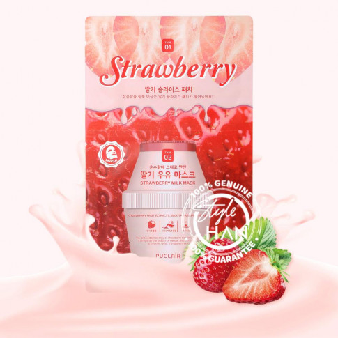 Puclair Strawberry Milk Mask Pack