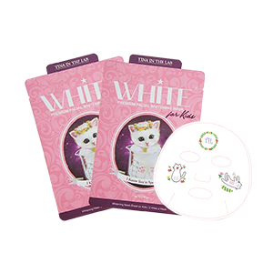 Tina In The Lab White Premium Facial Whitening Mask For Kids (Pouch)