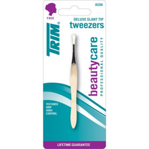 Trim Gold Slant Tweezers
