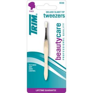 Trim Gold Slant Tweezers