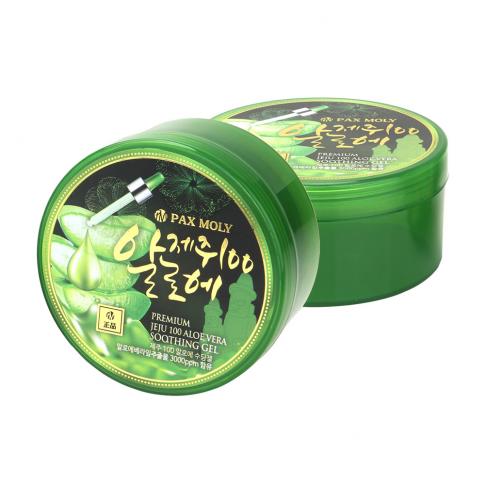 (แพ็ค1แถม1) PAX MOLY Premium Jeju 100 Aloe Vera Soothing Gel