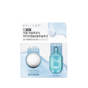 Wellage Real Hyaluronic Bio Capsule & Blue Solution One Day Kit