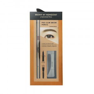 Browit Pro Slim Brow Pencil Free Brow Sticker #Cherry Brown