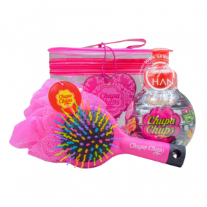 Chupa Chups Set Shower Strawberry + Hair Brush