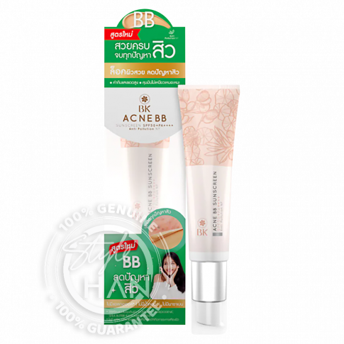 BK Acne BB Sunscreen SPF 50+ PA++++ Anti Pollution NF