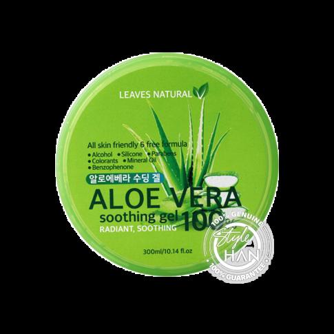 LEAVES NATURAL Aloe Vera Soothing Gel 100% 300 ml