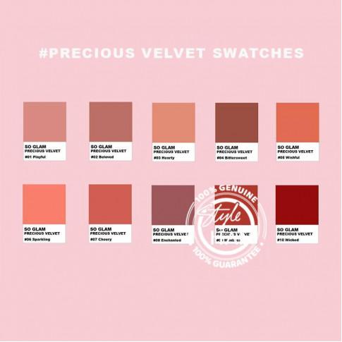 SO GLAM Precious Velvet Matte Liquid Lipstick